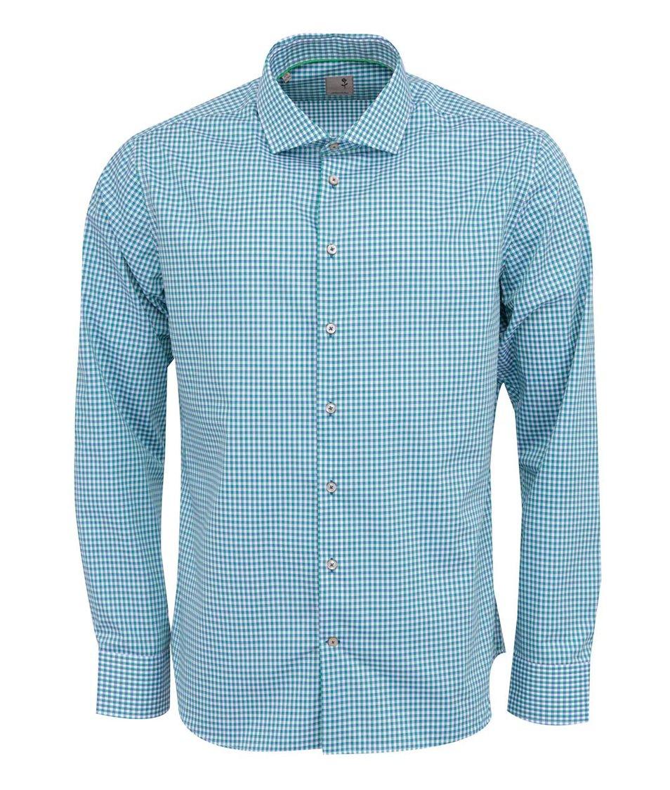 Zelená kostkovaná košile Seidensticker Shark Slim Fit