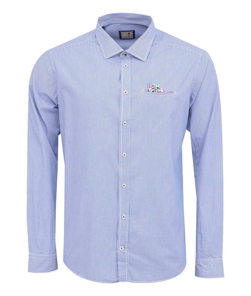 Modrá pruhovaná košile Seidensticker Luke Slim Fit