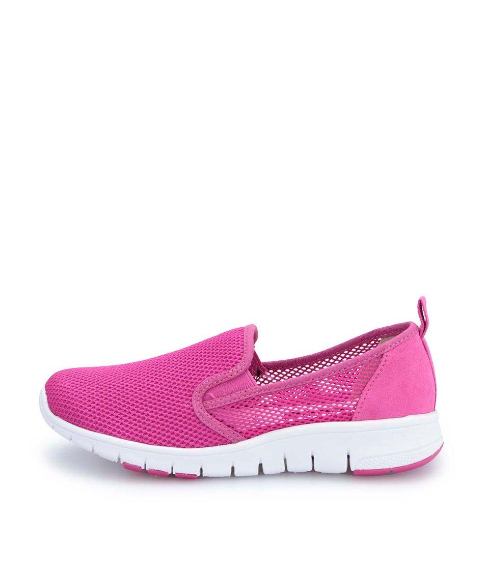 Růžové sportovní slip on tenisky Tamaris