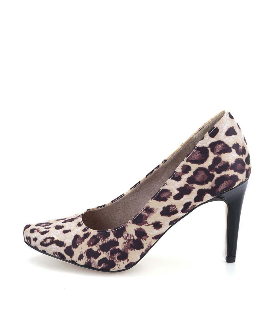 Leopardí lodičky na podpatku Tamaris