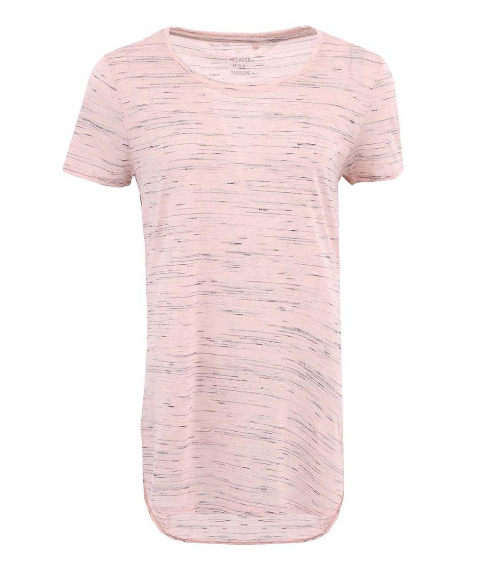 Meruňkové žíhané tričko ONLY Vivi