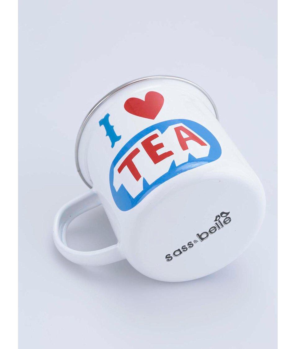 Bílý plechový hrnek Sass & Belle I love Tea