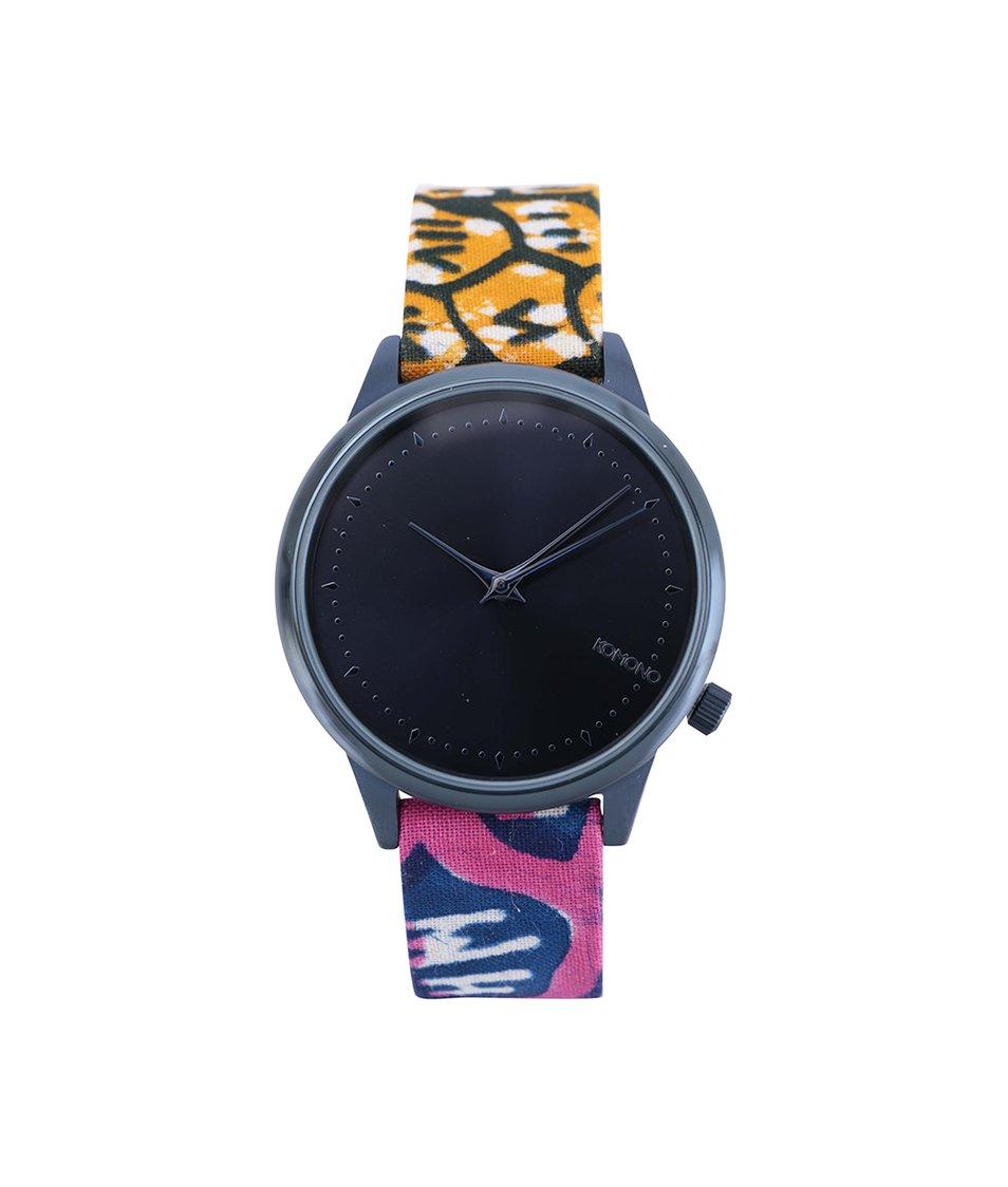 Vzorované dámské hodinky Komono Estelle Indigo