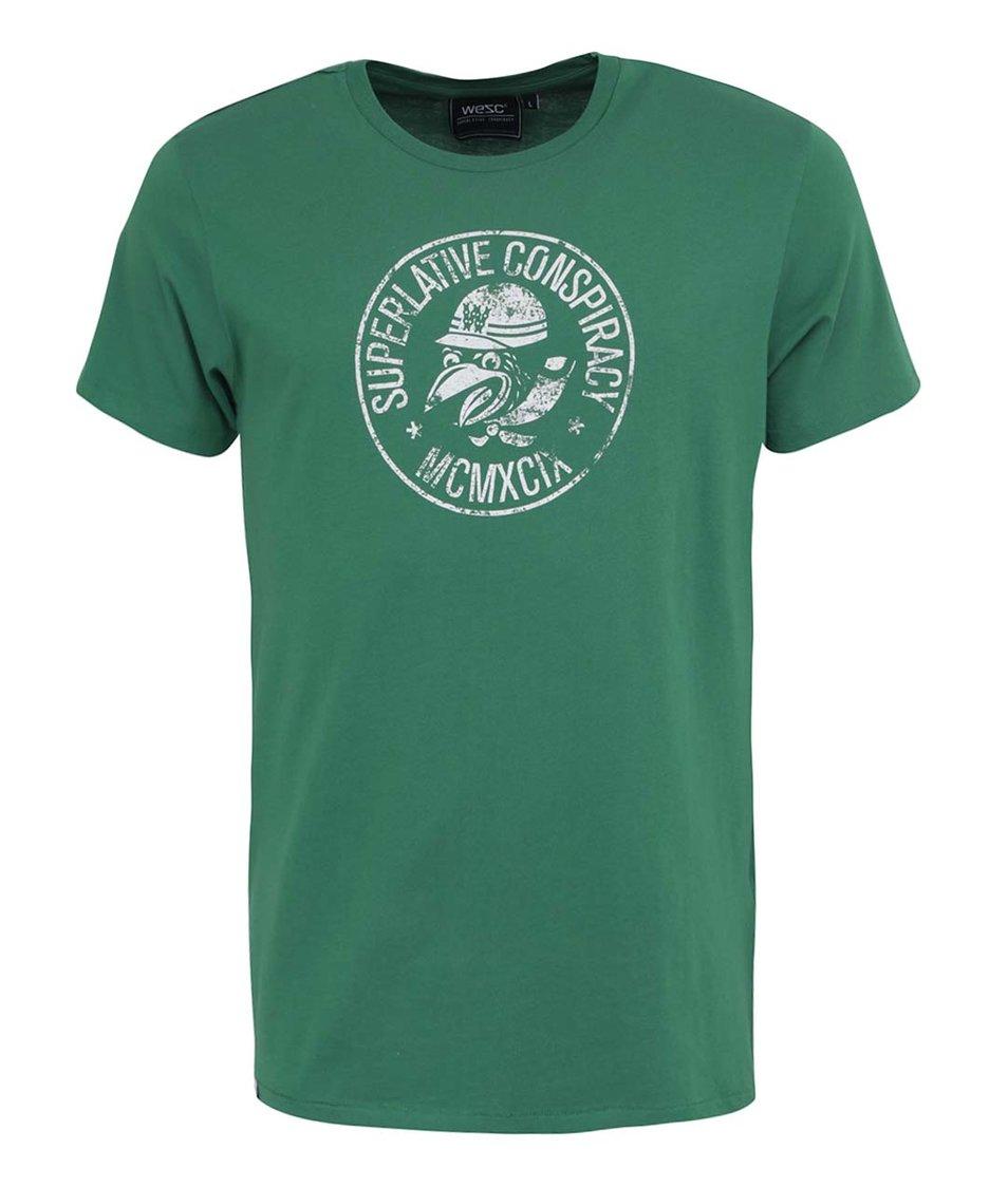 Zelené s bílým potiskem WeSC Mopedoz