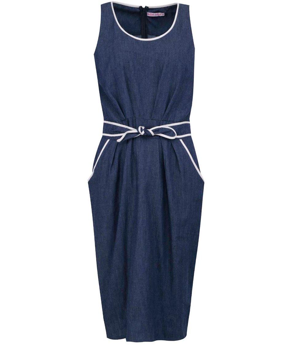 Tmavě modré džínové šaty Trollied Dolly Anything Goes