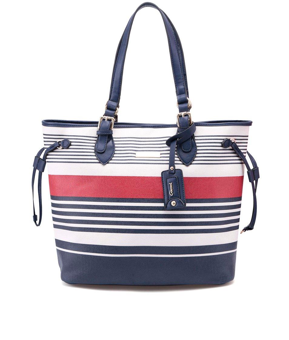 Červeno-modrá pruhovaná větší kabelka Gionni Estefania