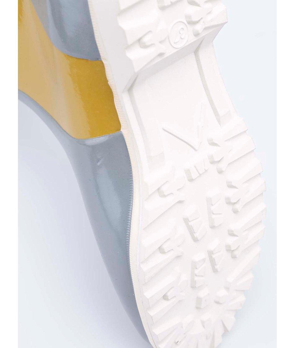 Šedo-žluté dámské holínky Novesta