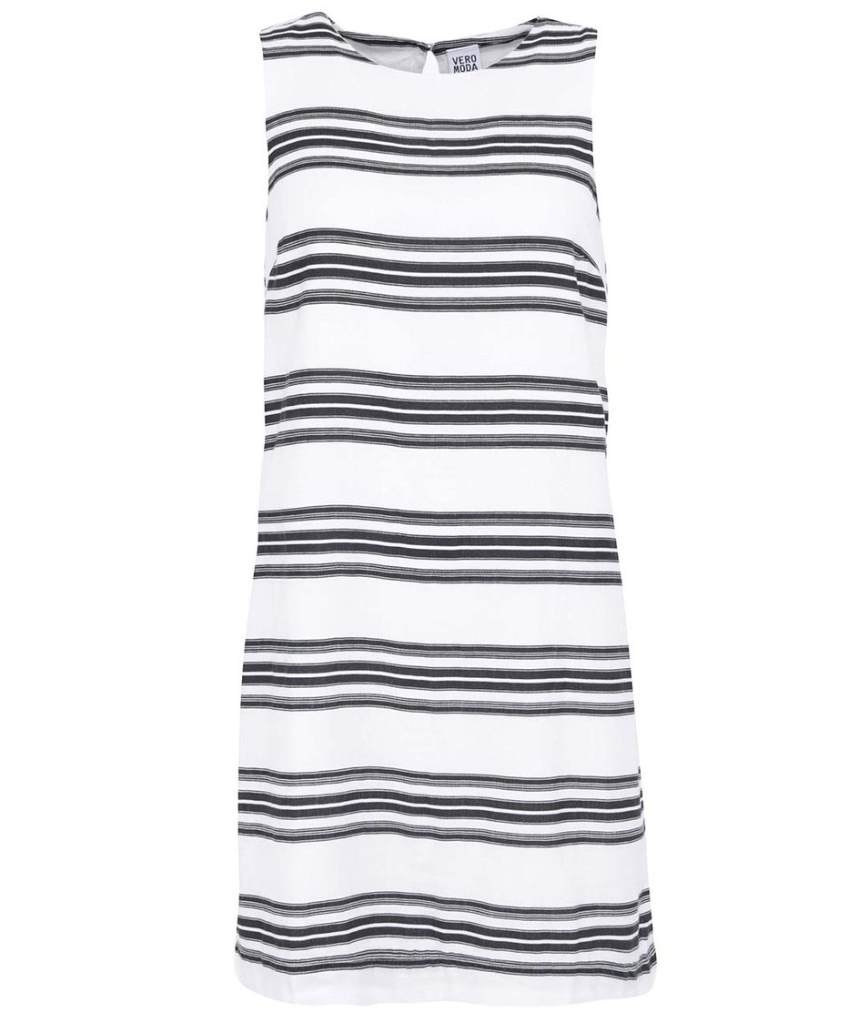 Černo-bílé pruhované šaty Vero Moda Shiva