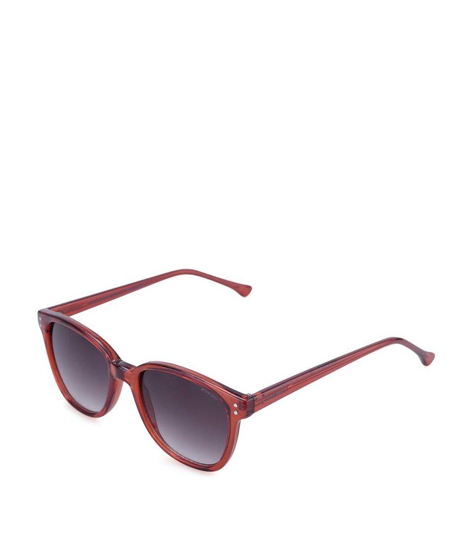 Červené unisex sluneční brýle Komono Renee