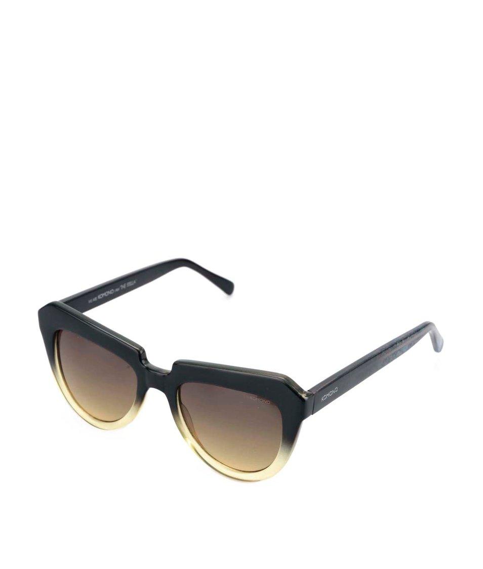Žluto-černé dámské sluneční brýle Komono Stella
