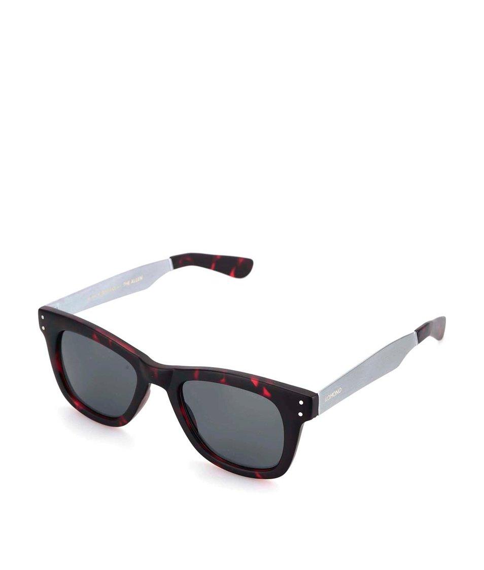 Vínovočerné unisex sluneční brýle Komono Allen