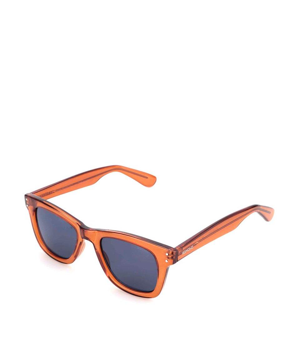 Hnědé unisex sluneční brýle Komono Allen