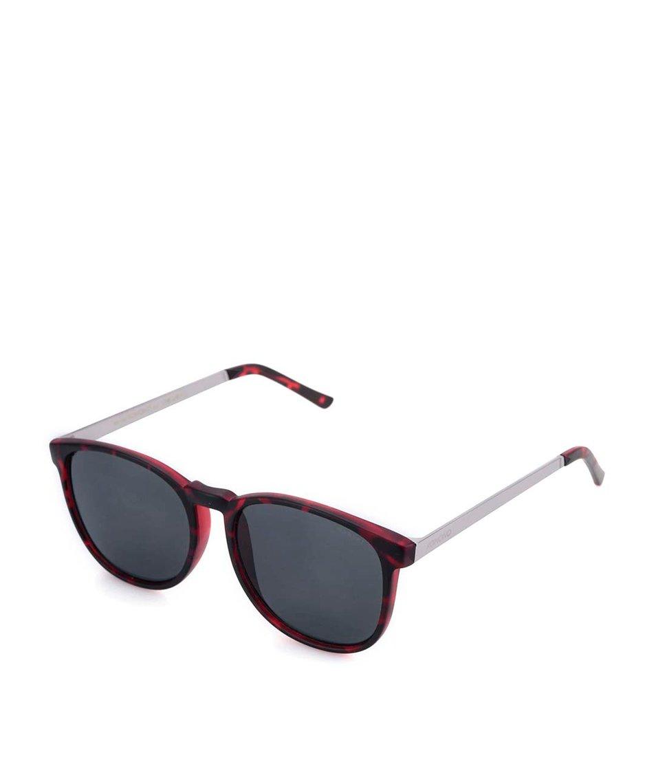 Vínovočerné unisex sluneční brýle s želvovinovým vzorem Komono Urkel
