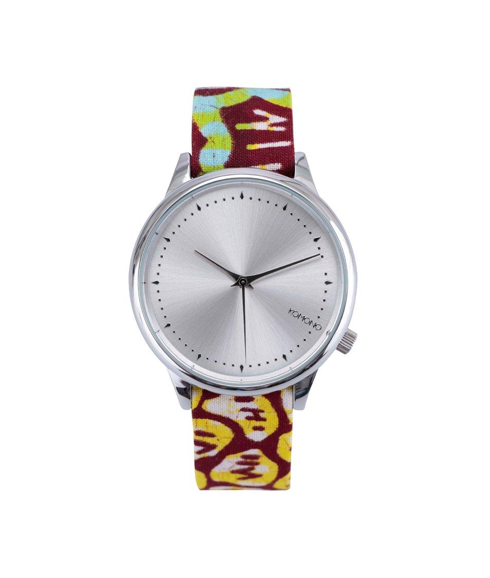Barevné dámské hodinky Komono Estelle Silver