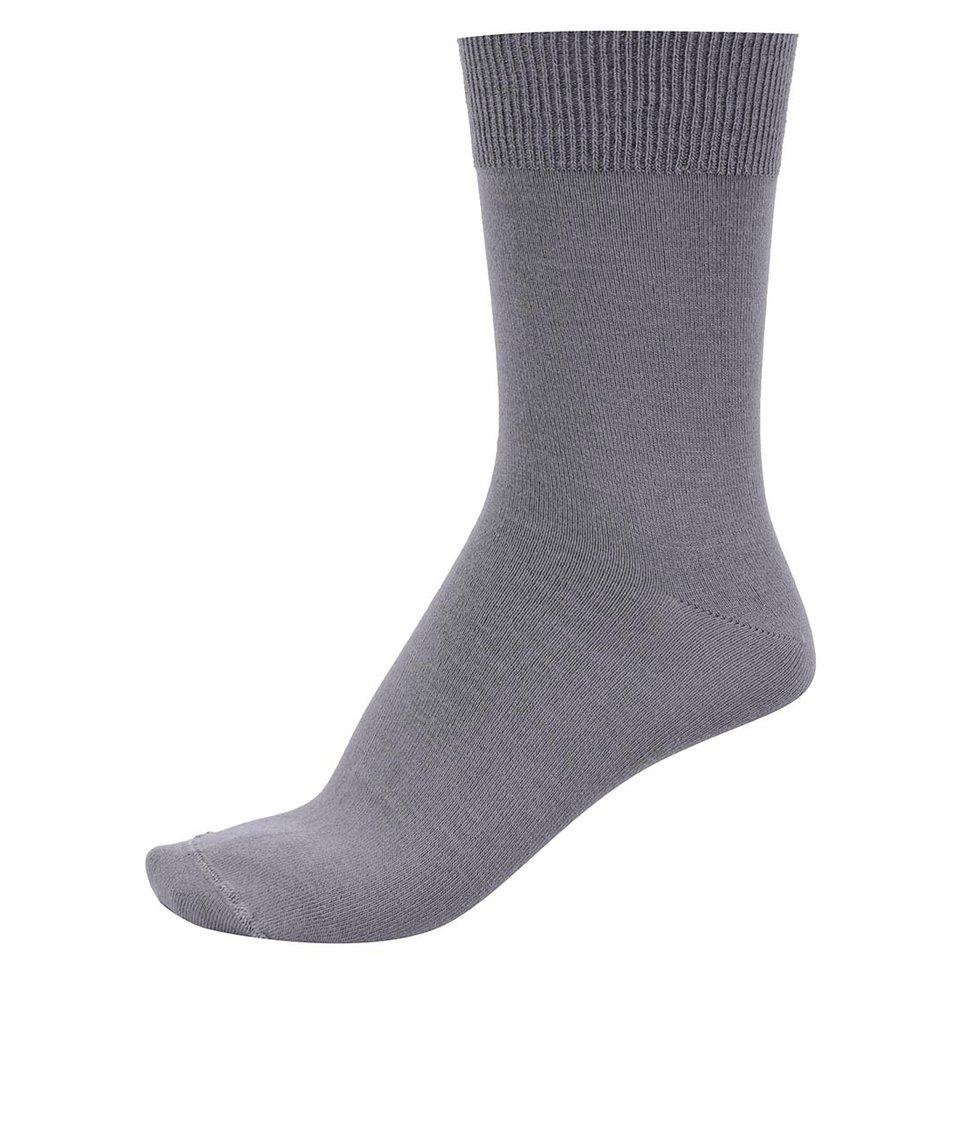 Šedé bambusové ponožky Bambutik Classic