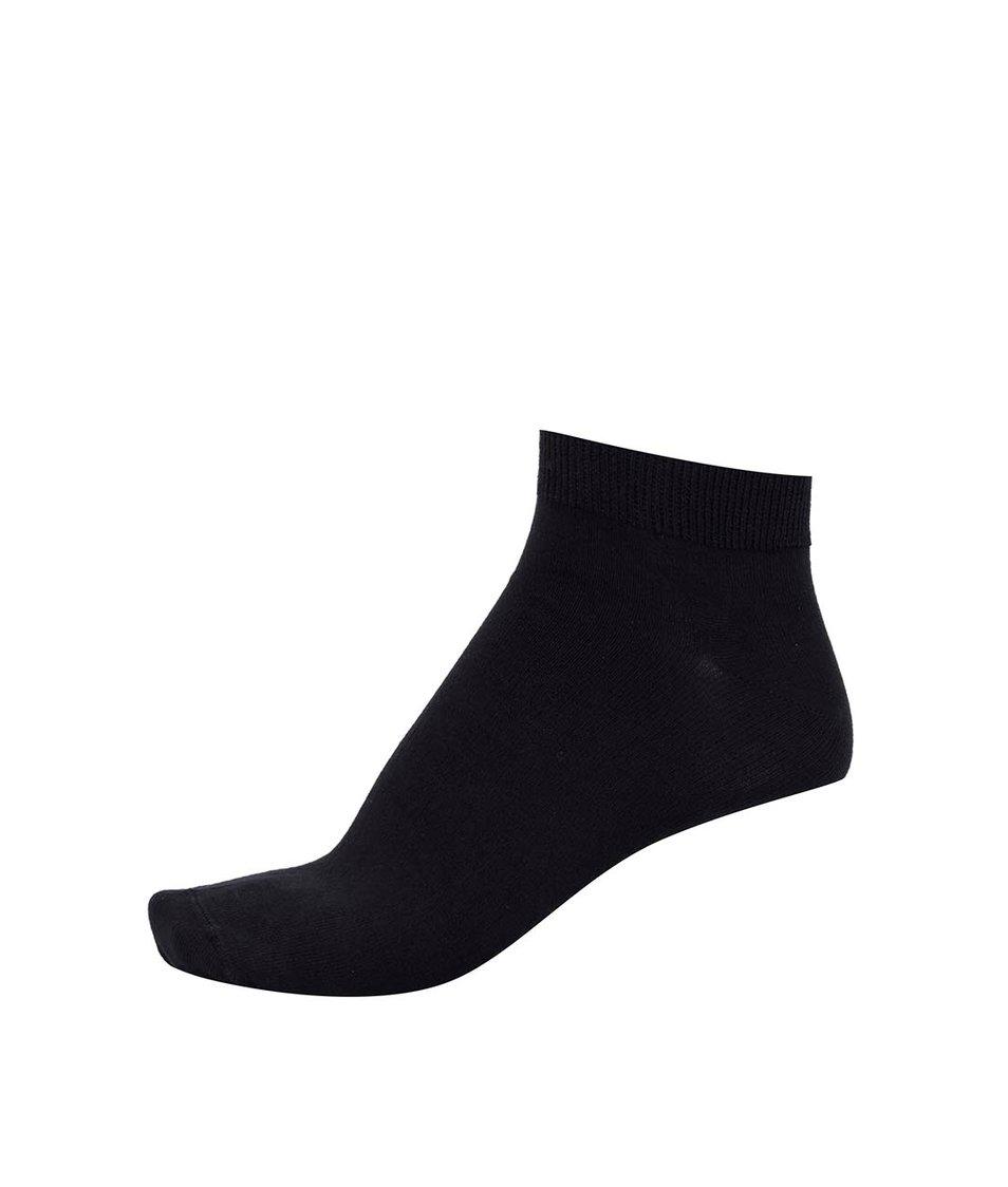 Černé bambusové kotníkové ponožky Bambutik Sneaker