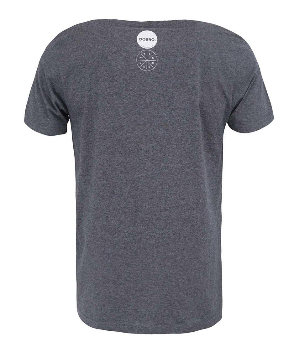 """""""Dobré"""" šedé pánské triko s potiskem pro Tamjdem"""