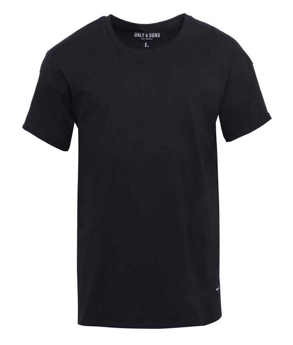 Černé triko ONLY & SONS Drop