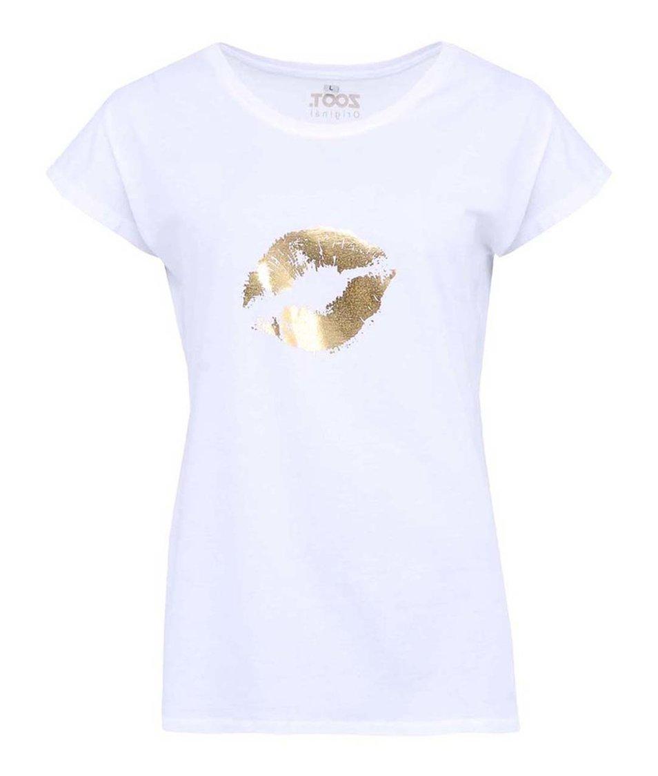 Bílé dámské tričko ZOOT Originál Zlatý polibek