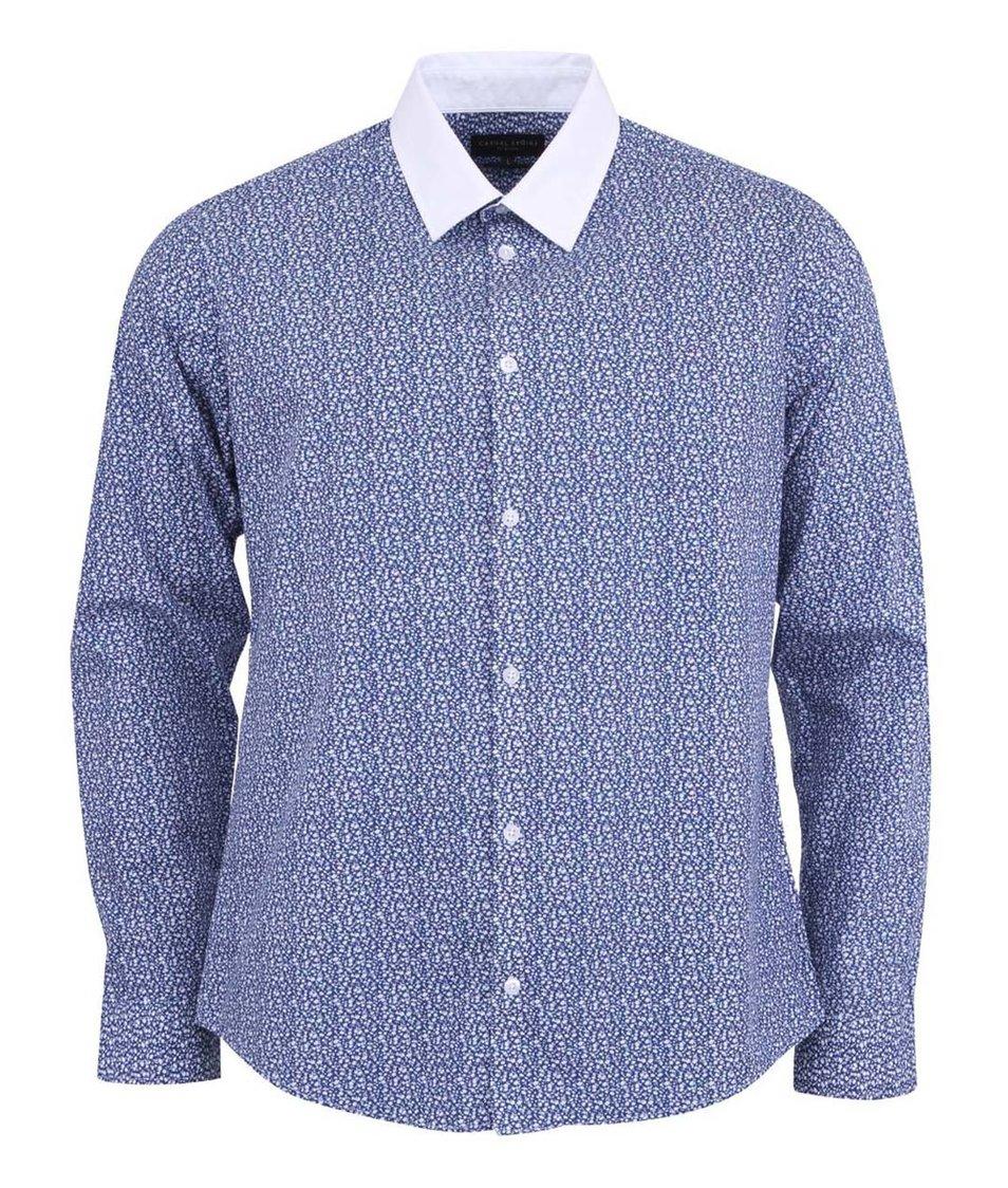 Modrá košile s bílým límečkem Casual Friday by Blend