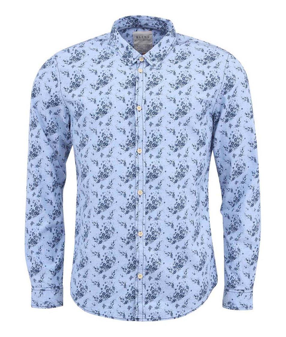 Světle modrá vzorovaná košile Blend