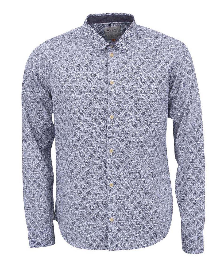 Modro-bílá jemně vzorovaná košile Blend
