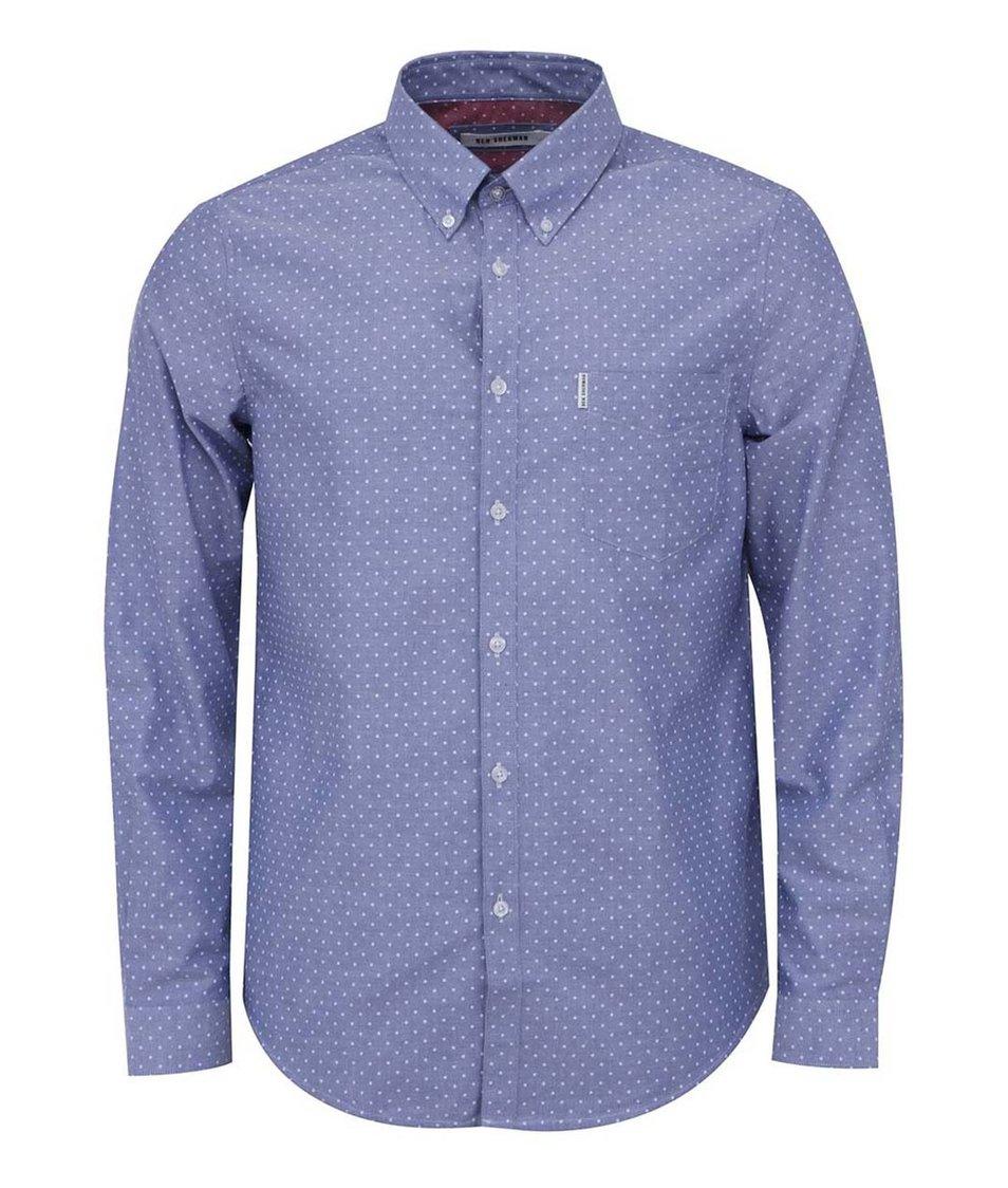 Světle modrá košile s bílými puntíky Ben Sherman