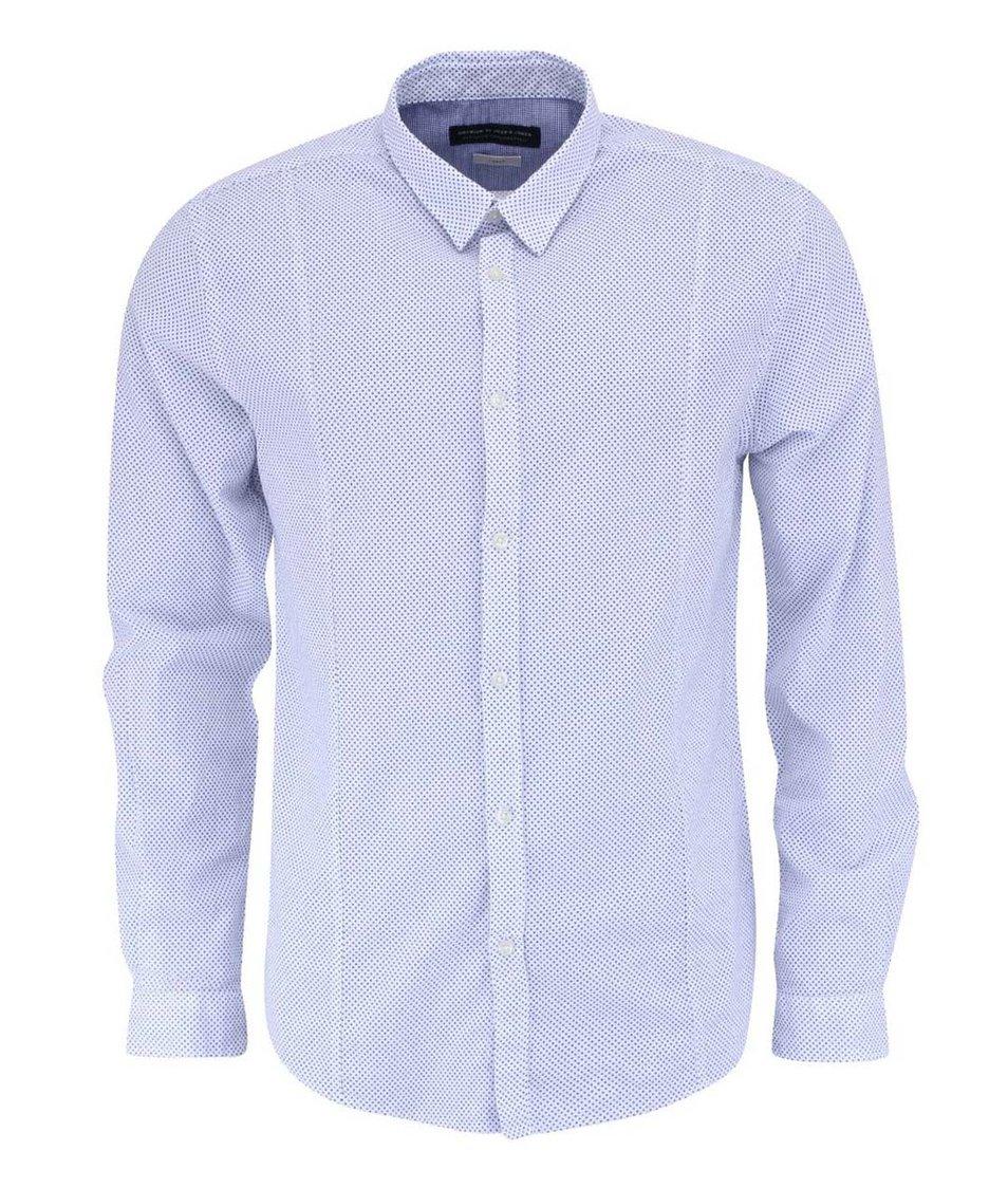 Bílá košile s modrými tečkami  Jack & Jones Maple