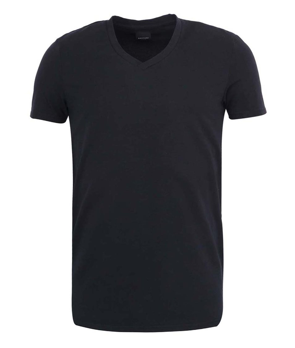 "Černé triko s výstřihem do ""V"" Bertoni"