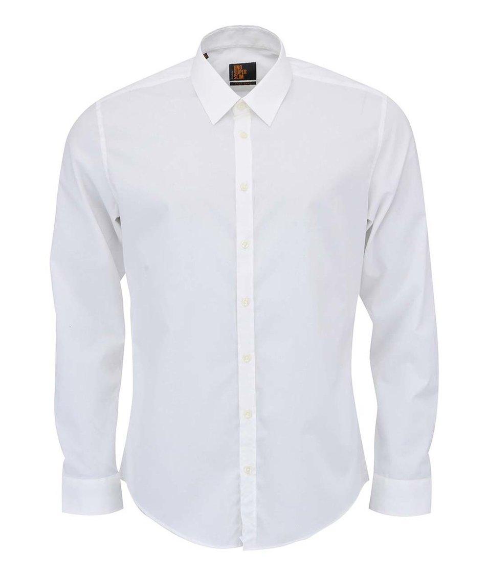 Krémová košile Seidensticker Super Slim Fit