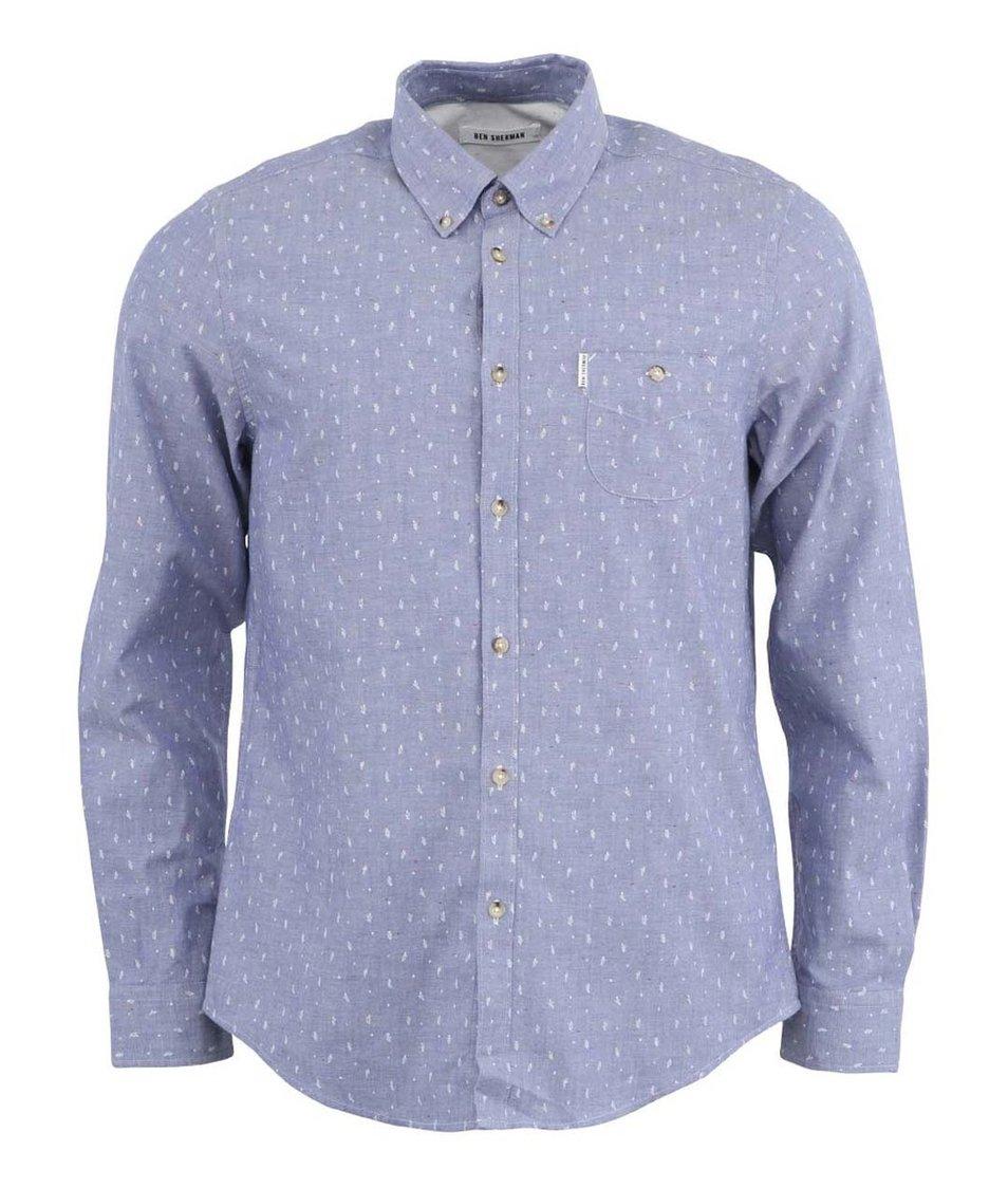 Pánská modrá košile s jemným vzorem Ben Sherman