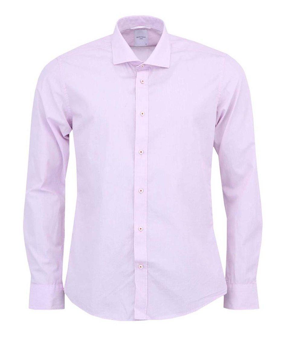 Růžová košile Bertoni Slim Fit