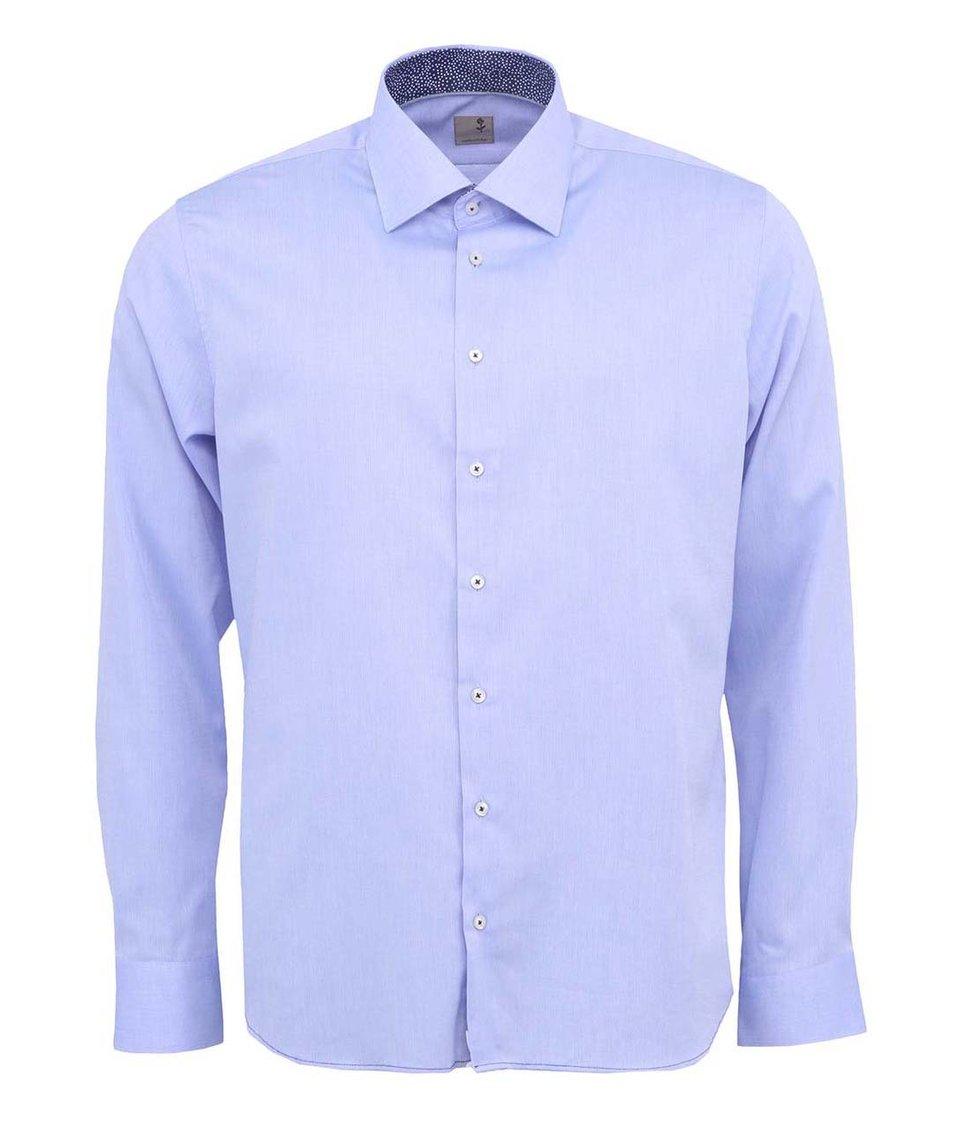 Světle modrá košile Seidensticker Paul Panel Patch Slim Fit
