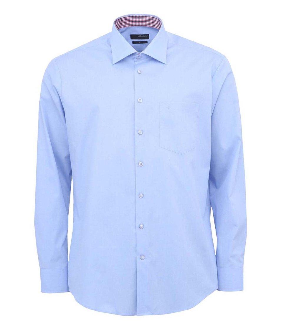 Světle modrá košile Seidensticker Kent Patch Regular Fit