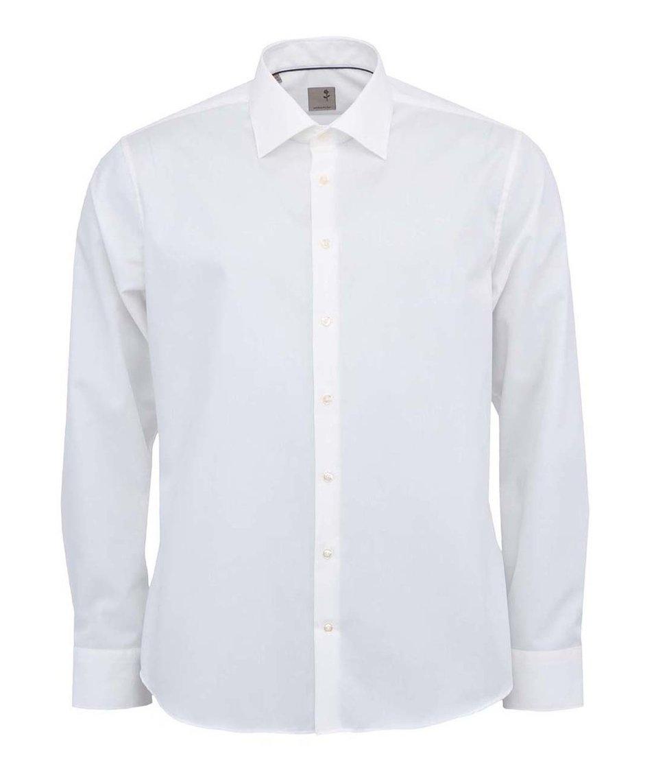 Krémová košile Seidensticker Kent SR Slim Fit