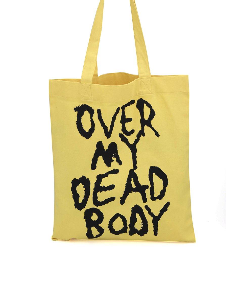 Žlutá plátěná taška Cheap Monday Canvas tote