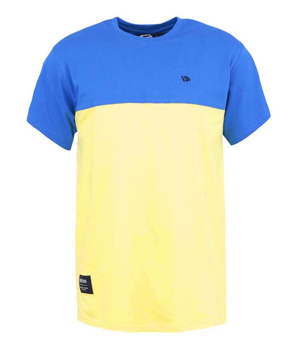 Modro-žluté pánské triko Funstorm Turpin