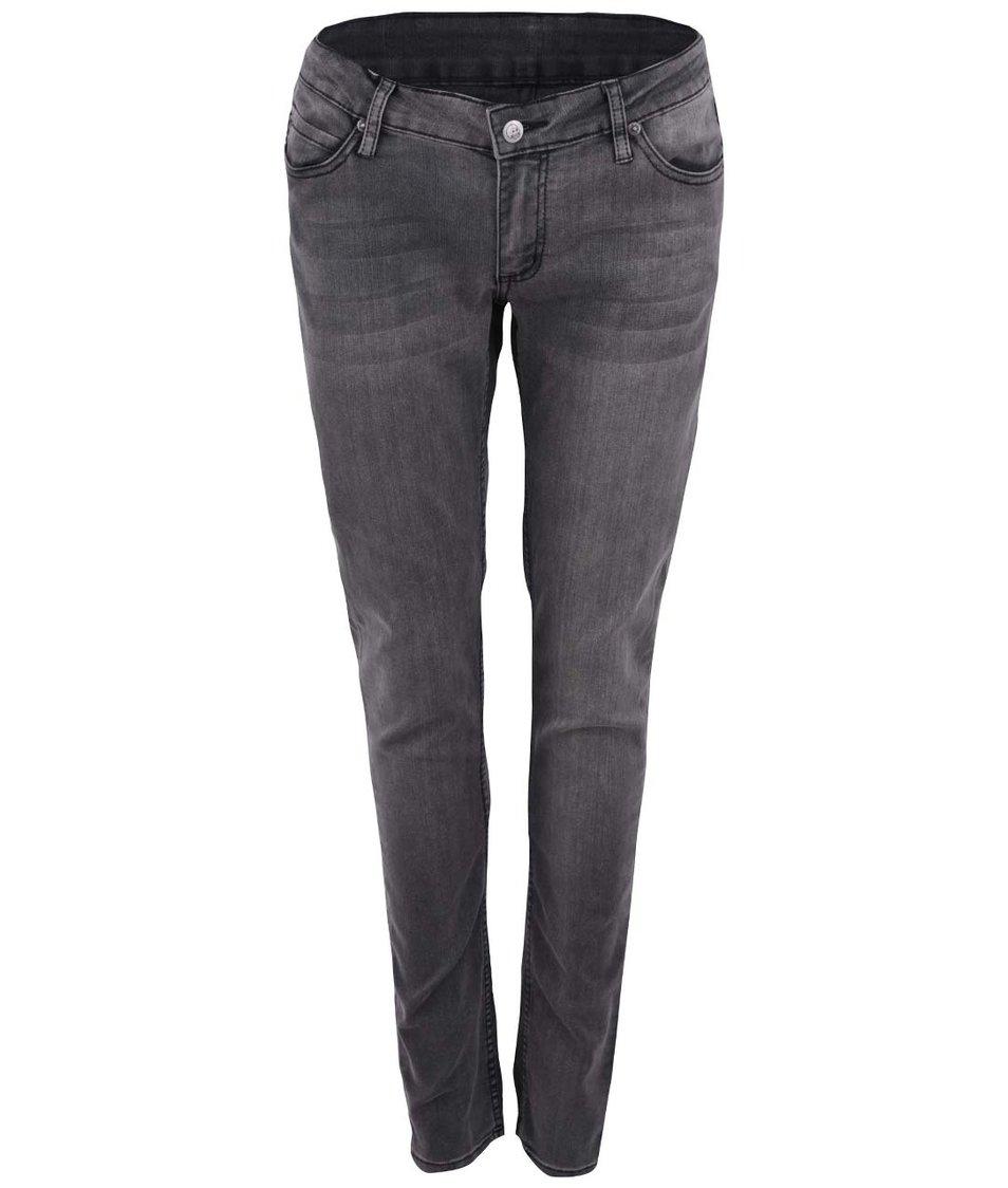 Šedé dámské strečové džíny s nízkým pasem Cheap Monday Slim