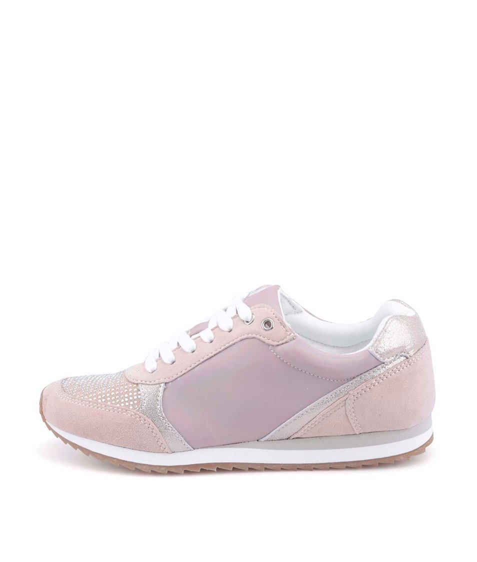 Světle růžové dámské tenisky s kamínky ALDO Fuda