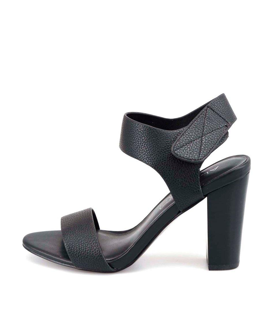 Černé sandálky na podpatku ALDO Istrago