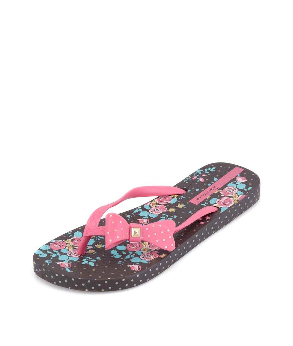 Růžovo-hnědé žabky Ipanema Fashion Flower