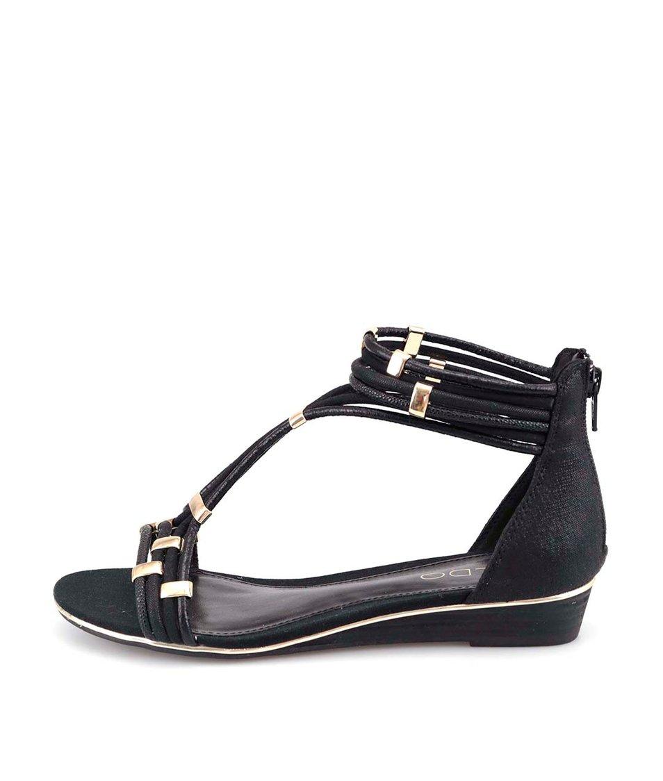 Černé páskové sandálky ALDO Alyson