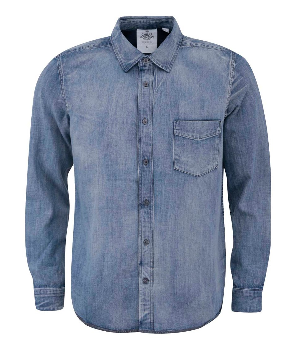 Světle modrá pánská džínová košile Cheap Monday Air