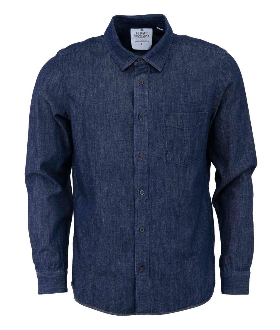 Tmavě modrá pánská džínová košile Cheap Monday Air