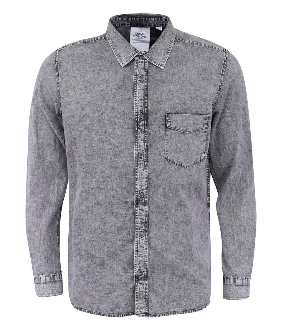 Šedá pánská džínová košile Cheap Monday Air