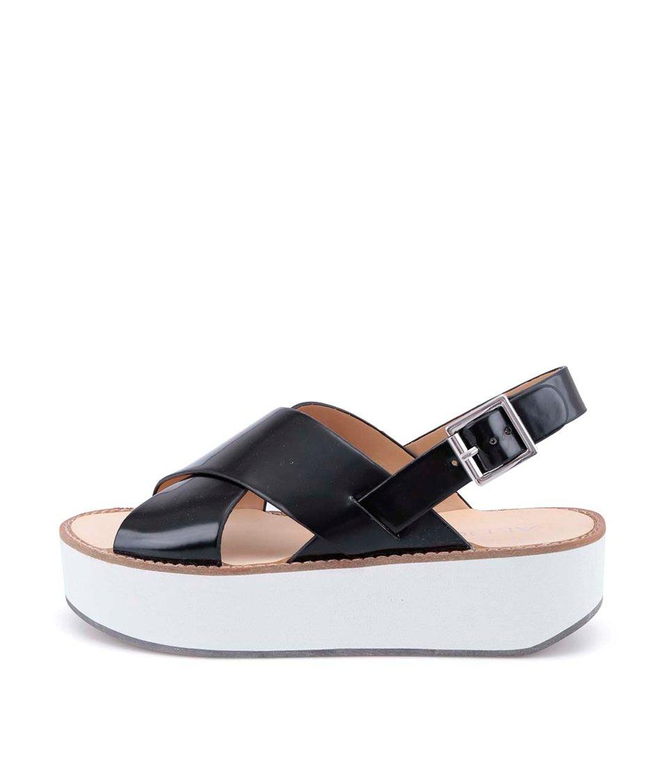 Černé sandálky na vyšší bílé platformě ALDO Glori