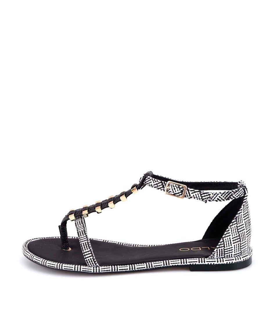 Černo-bílé vzorované sandálky ALDO Annabeth