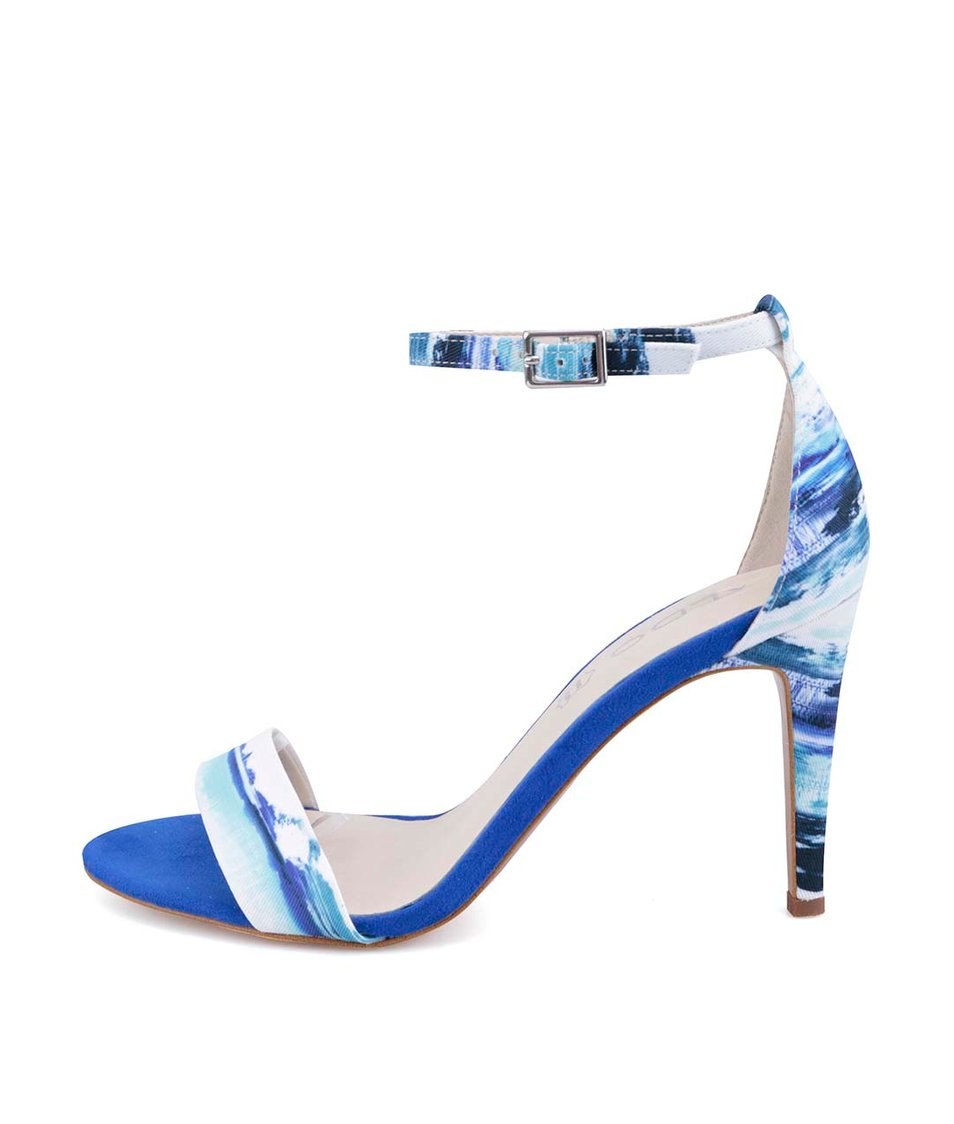 Modré vzorované sandálky na podpatku ALDO Ibenama