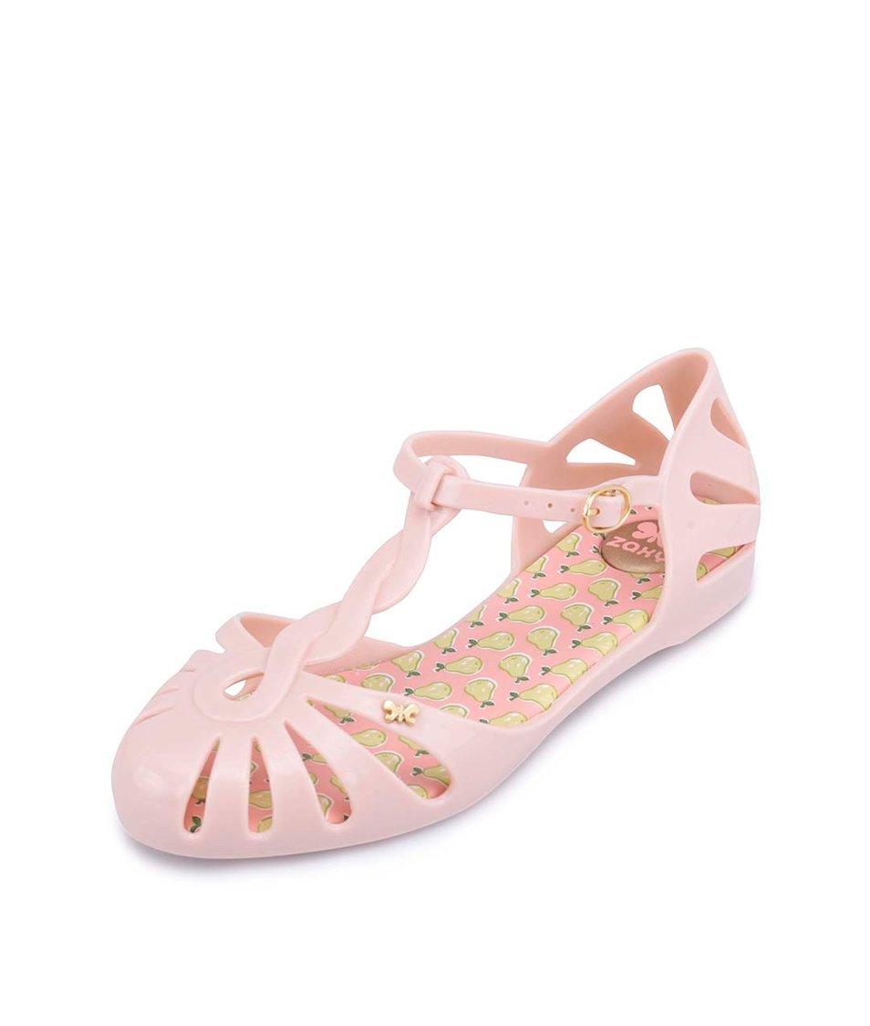 Světle růžové plastové sandálky Zaxy Sunday Sandal