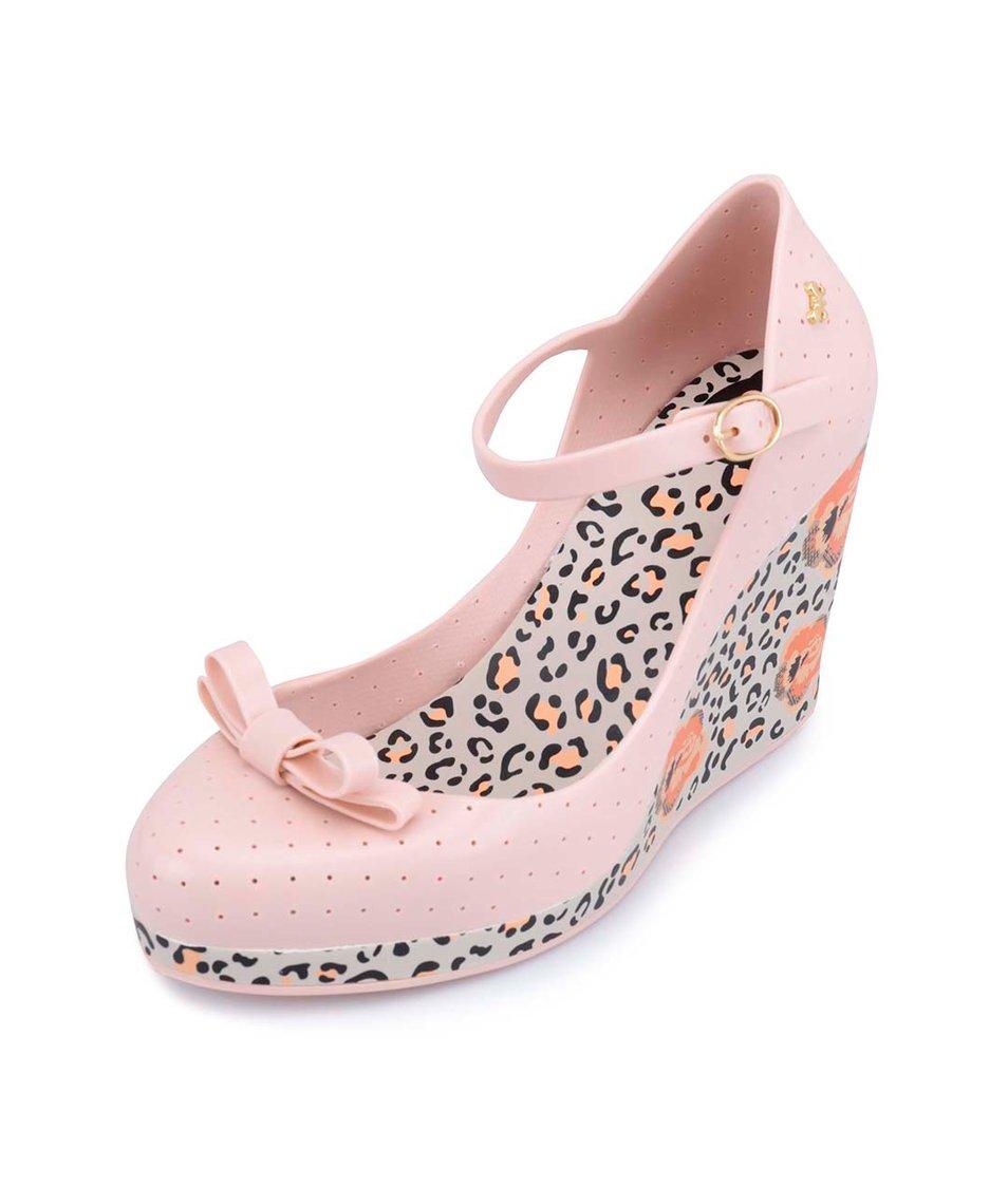 Světle růžové plastové boty na klínku Zaxy Pop Star Queen